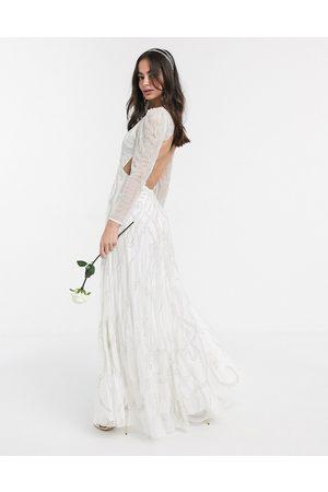 ASOS Charlotte nouveau embellished maxi wedding dress