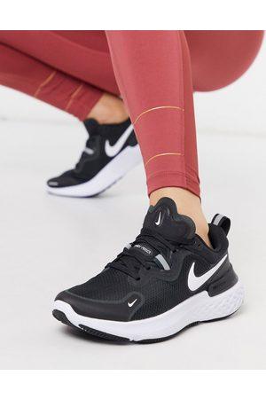 Nike React Miler trainers in black