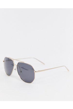 Pilgrim Gabriel aviator sunglasses with gold frame