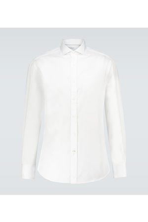 Brunello Cucinelli Long-sleeved cotton twill shirt