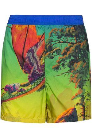 VALENTINO Shorts de playa Dragon At Dawn