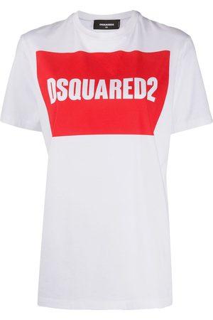 Dsquared2 Mujer Playeras - Playera con logo enmarcado