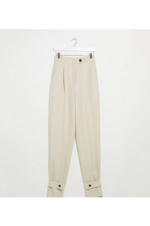 ASOS ASOS DESIGN Tall tapered trousers with ankle tab detail