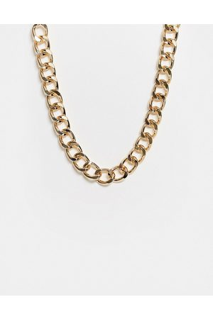 ASOS Necklace with 17mm curb chain links in gold tone
