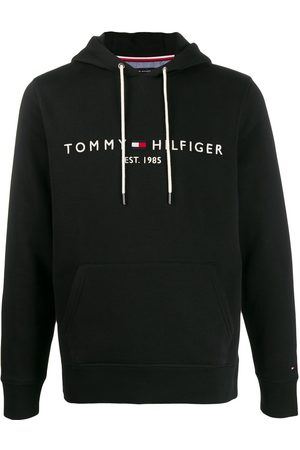 Tommy Hilfiger Hombre Con capucha - Sudadera con capucha y logo estampado