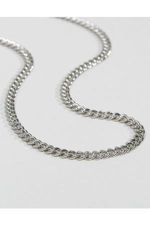 ASOS Midweight curb chain in silver tone