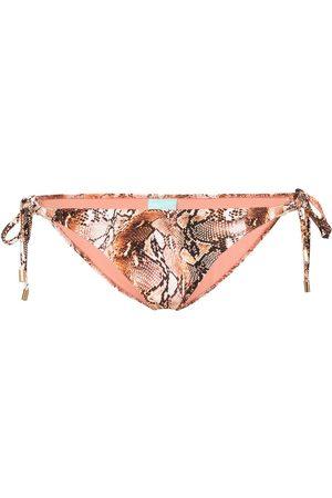 Melissa Odabash Calzones de bikini con estampado de piel de serpiente