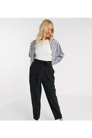 ASOS Mujer Leggings y treggings - ASOS DESIGN Tall tailored tie waist tapered ankle grazer trousers