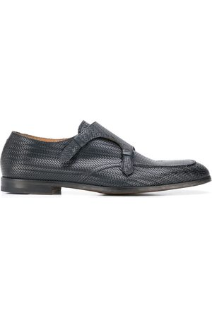 Doucal's Interlaced effect monk shoes