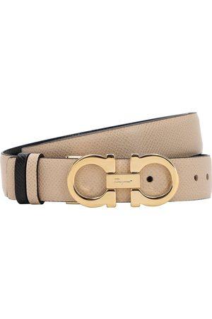 Salvatore Ferragamo Cinturón Reversible De Piel 25mm
