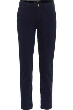 7 for all Mankind Mid-rise slim chinos