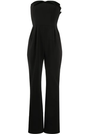 Moschino Jumpsuit largo strapless con pliegues