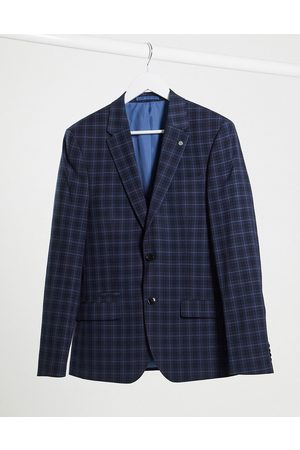 River Island Skinny suit jacket in navy check
