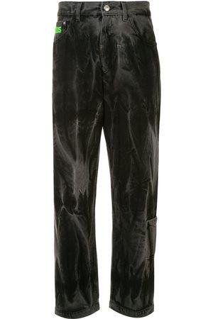 GCDS Jeans rectos con efecto lavado