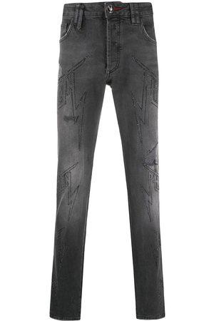 Philipp Plein Jeans con logo y detalles