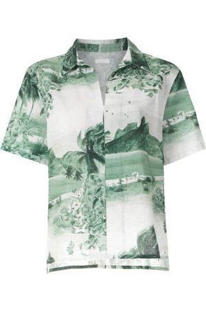 OSKLEN Camisa RJ estampada manga corta