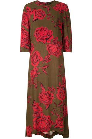 OSKLEN Vestido con rosas estampadas