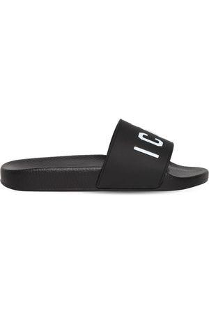 Dsquared2 10mm Sandalias Planas De Goma Con Logo