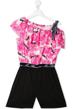 MISS BLUMARINE Jumpsuit corto con estampado floral