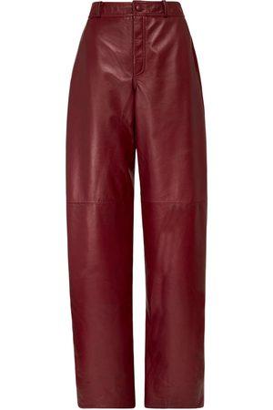 """NYNNE Pantalones """"briony"""" De Piel Con Cintura Alta"""
