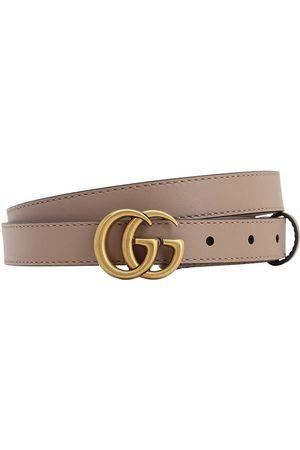 """Gucci Cinturón """"gg Marmont"""" De Piel 20mm"""