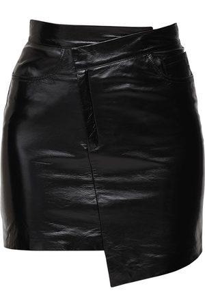 Zeynep Arcay Mini Falda Asimétrica De Charol