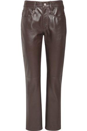 MM6 MAISON MARGIELA Pantalones Rectos De Piel