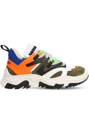 Dsquared2 Sneakers De Neopreno Y Piel Con Cordones