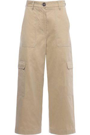 Max Mara Pantalones Cargo Impermeables De Sarga De Algodón