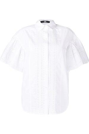 Karl Lagerfeld Camisa de popelina con bordado