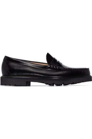 G.H. Bass Black Larson 90s Weejuns leather penny loafers
