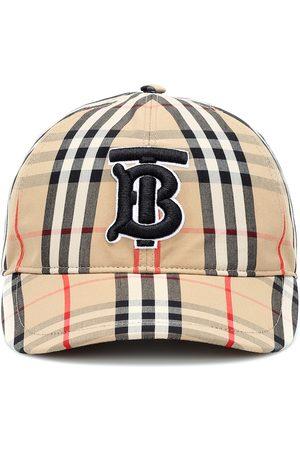Burberry TB Vintage Check cotton baseball cap