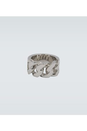 Alexander McQueen Metallic chain ring
