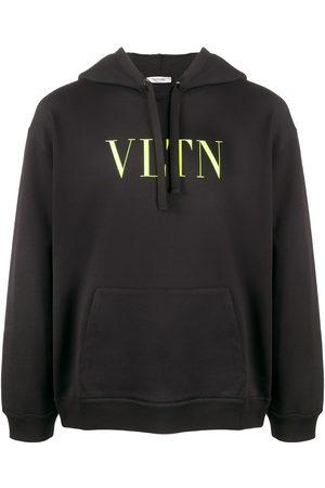 VALENTINO Hombre Con capucha - Sudadera con estampado VLTN del logo