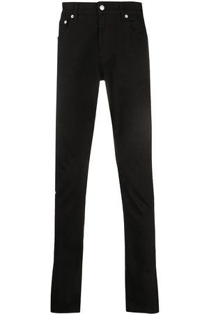 Alexander McQueen Embroidered logo slim-fit jeans