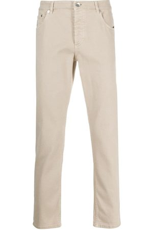 Brunello Cucinelli Cropped straight-leg jeans