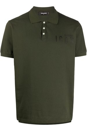 Dsquared2 Playera tipo polo Icon con eslogan