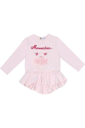 MONNALISA Baby embroidered cotton top