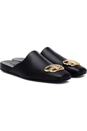Balenciaga BB Cosy leather mules