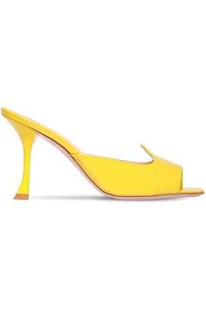 "Roger Vivier Zapatos Mules ""i Love Vivier"" De Charol 10mm"