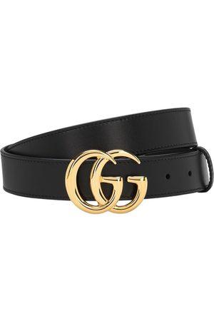 Gucci Cinturón De Piel Con Hebilla Gg 3cm