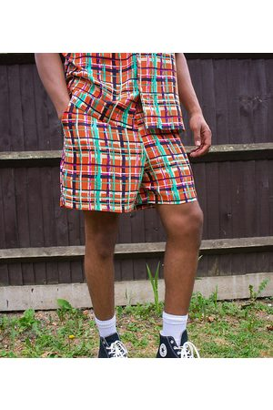 ASOS KENYA check print shorts co ord