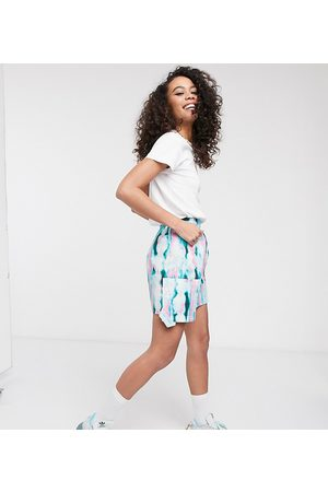 ASOS KENYA tye dye mini skirt with utility pocket