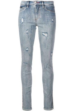 Philipp Plein Skinny jeans con efecto envejecido