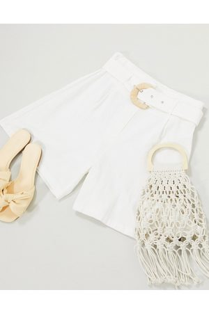 Glamorous High waisted relaxed shorts with belt detail