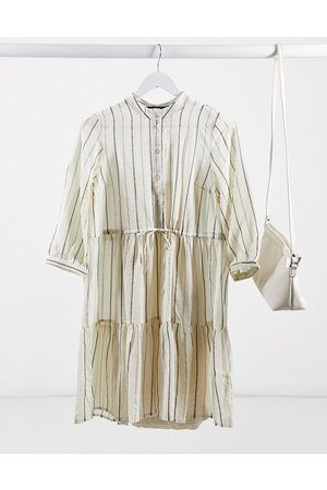 Vero Moda Smock dress in metallic stripe