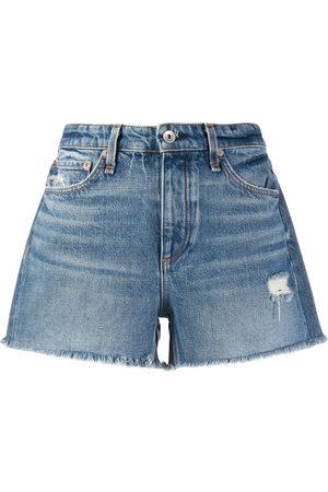 RAG&BONE Shorts de mezclilla con tiro medio