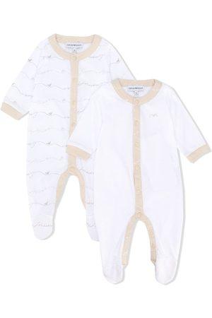 Emporio Armani Set de dos pijamas con botones