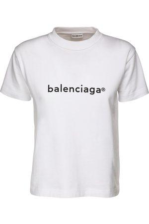 Balenciaga Camiseta De Jersey De Algodón Estampada