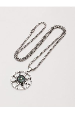 Zaful Compass Pendant Chain Necklace